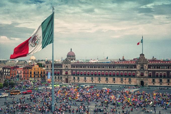 Mexiko, Mexico City, Plaza de la Constitución