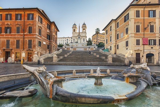 Italien, Rom, Piazza di Spagna (Spanische Treppe)