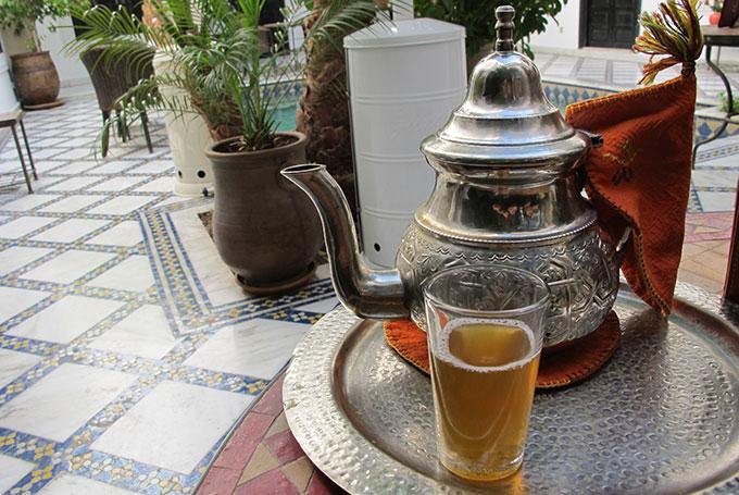 Muntthee drinken Marrakech