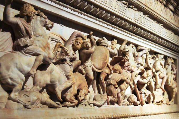 Bezienswaardigheden in Istanbul: Alexandersarcofaag in het Archeologisch Museum van Istanbul