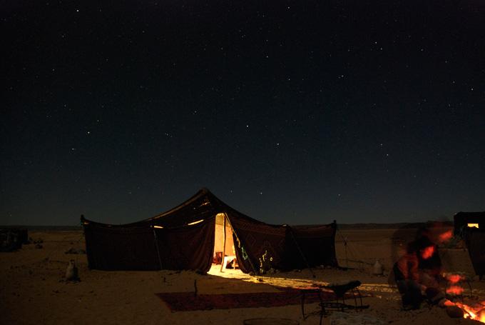 Overnachten in de Sahara, Marokko