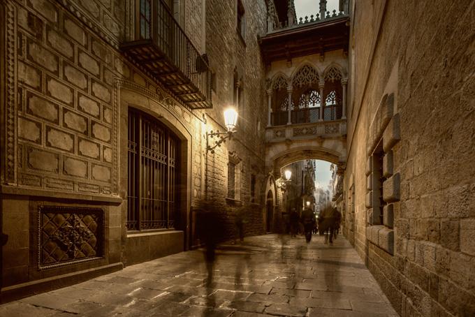 Gotische wijk in Barcelona, Spanje