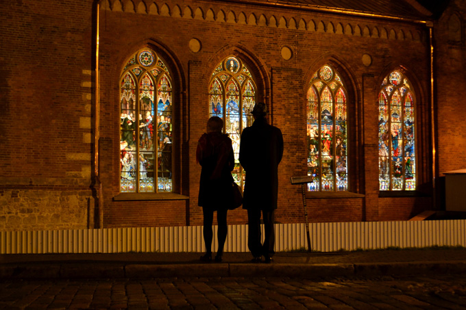 Kerk in Riga, Letland