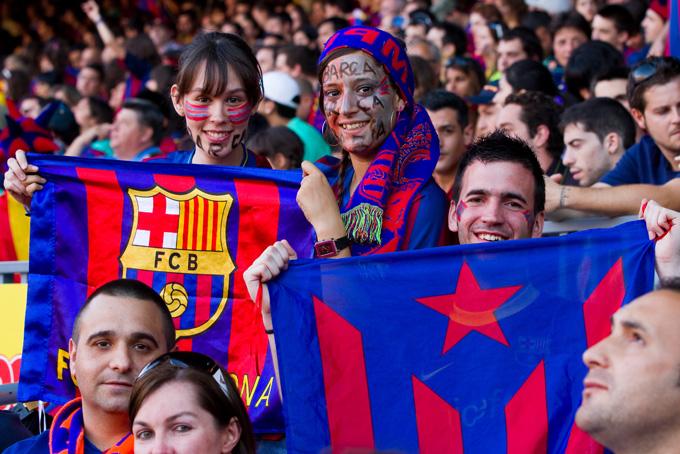 Fans van FC Barcelona