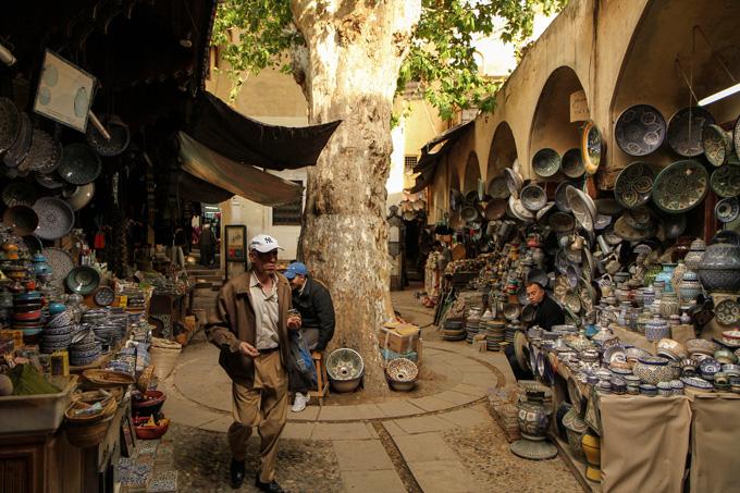 De oude stad van Fez, Marokko