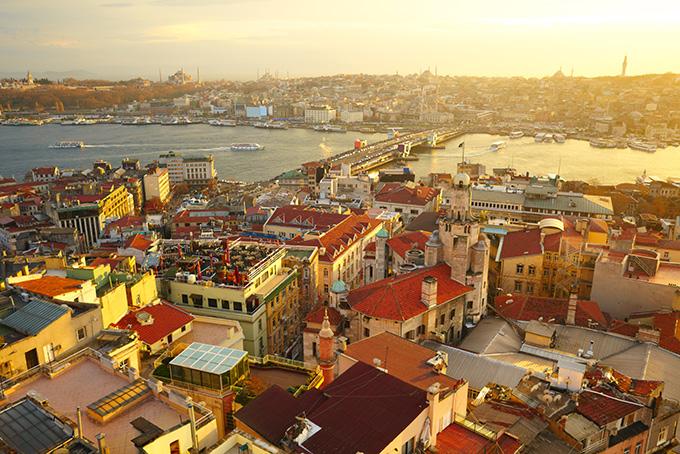 Bezienswaardigheden in Istanbul: Uitzicht van de Galatatoren