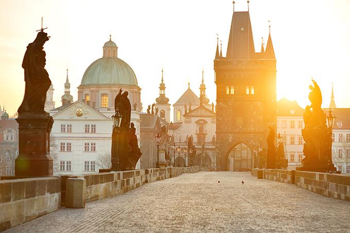 Bezienswaardigheden in Praag: de Karelsbrug.