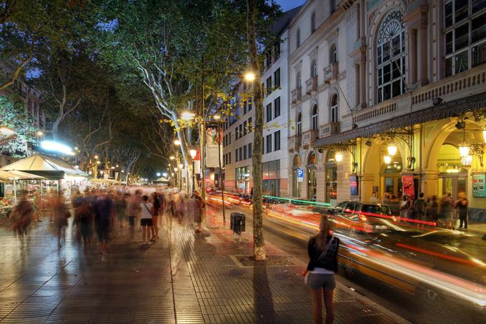 Boulevard La Rambla in Barcelona, Spanje