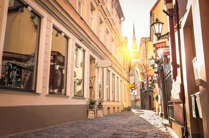 De Oude Stad van Riga in Letland
