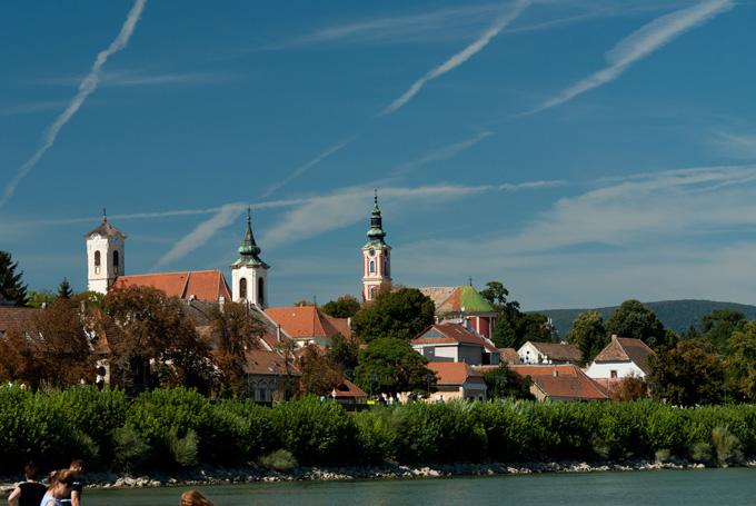 Het stadje Szentendre in Hongarije