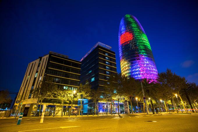 Torre Agbar in Barcelona, Spanje