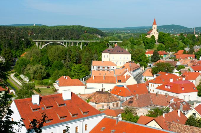 De stad Veszprém in Hongarije