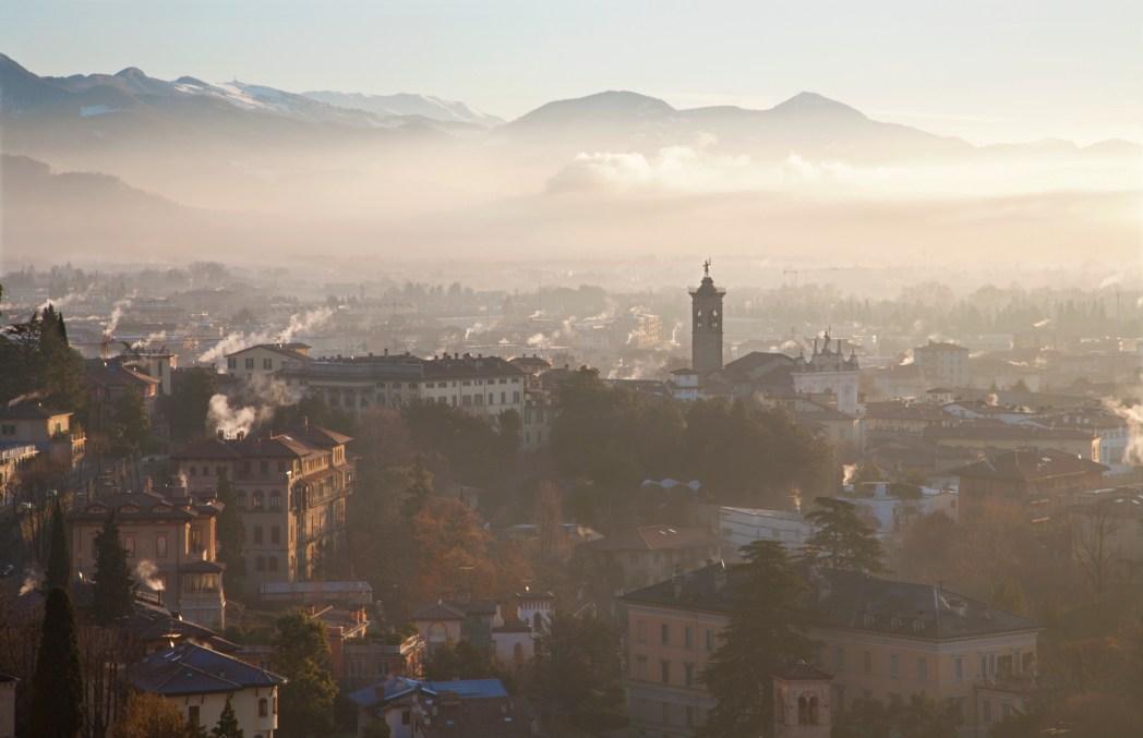 gebouwen in Bergamo
