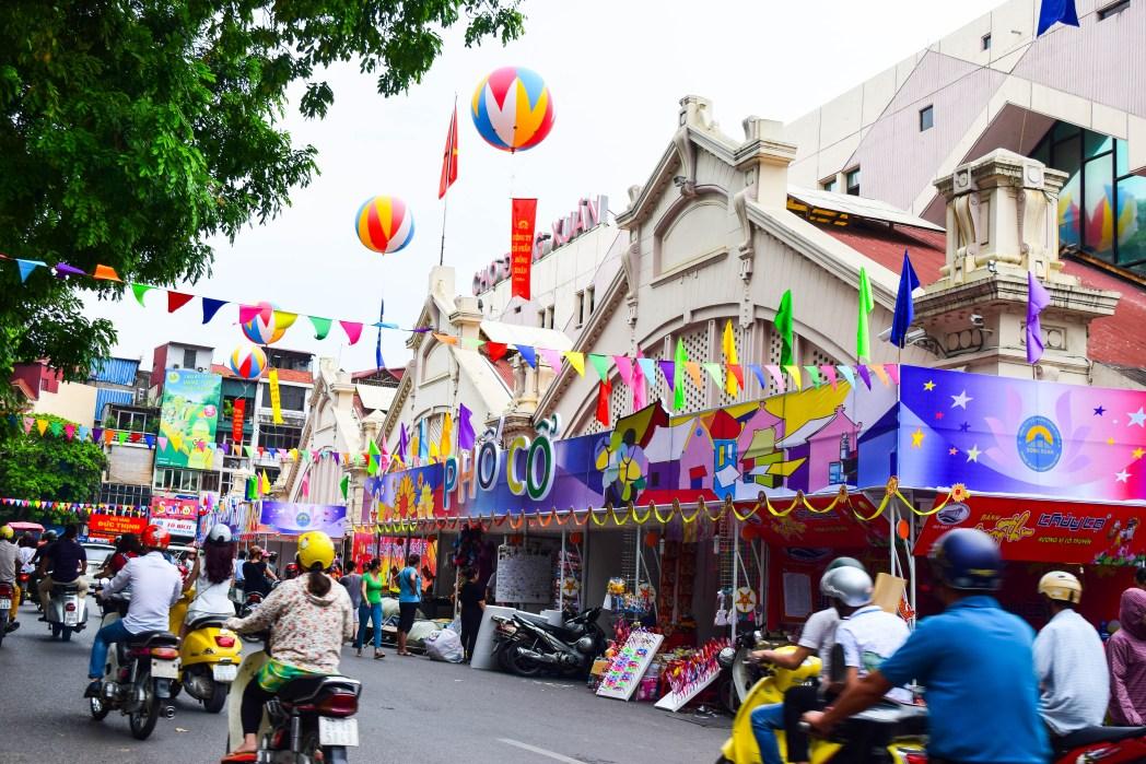 Vietnam stad met kinderen