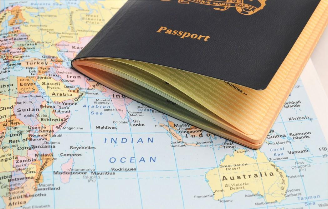 Paspoort, wereldkaart