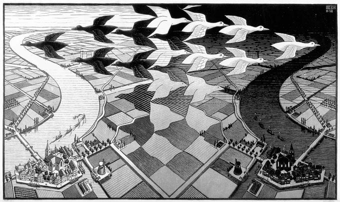 M. C. Escher kunstwerken in het paleis