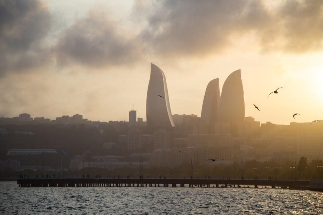 Bakoe skyline, Azerbeidzjan