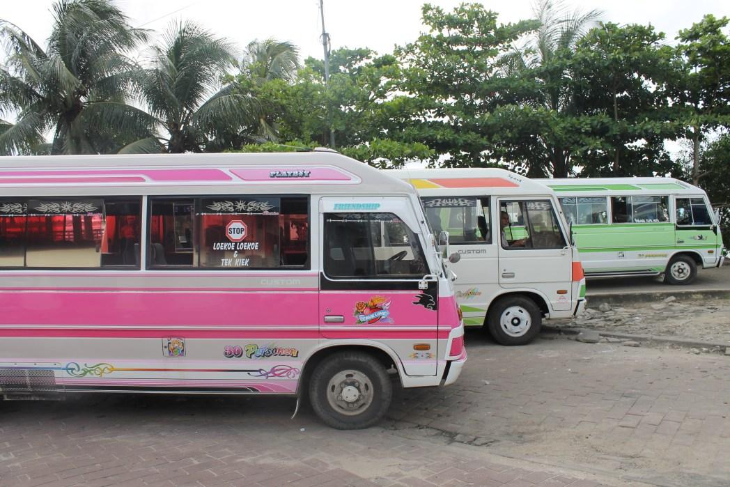 Openbaar vervoer, bussen, Paramaribo, Suriname