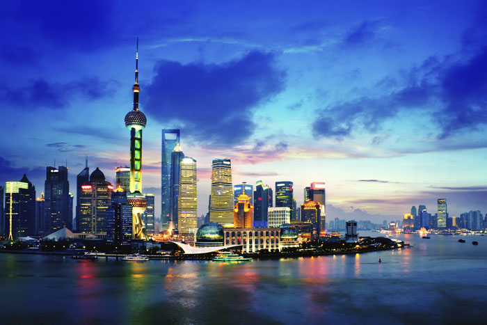 Skyline van Sjanghai
