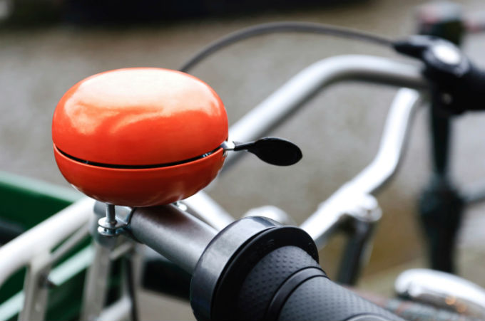 Oranje fietsbel
