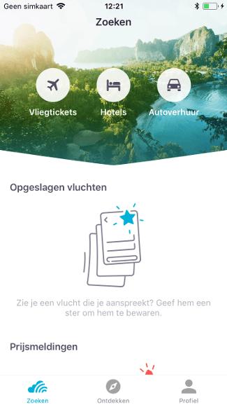 iPhone Skyscanner app