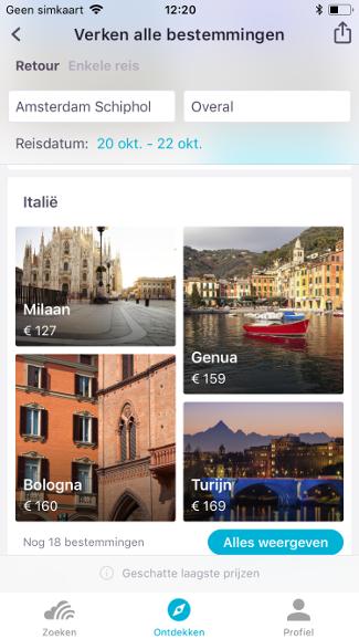 Skyscanner iPhone App