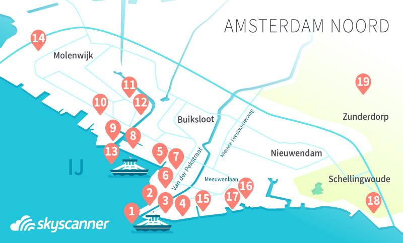 Kaart Amsterdam Noord