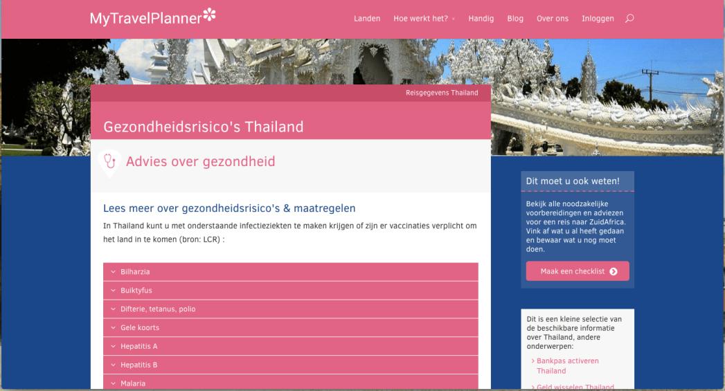 MyTravelPlanner, Thailand