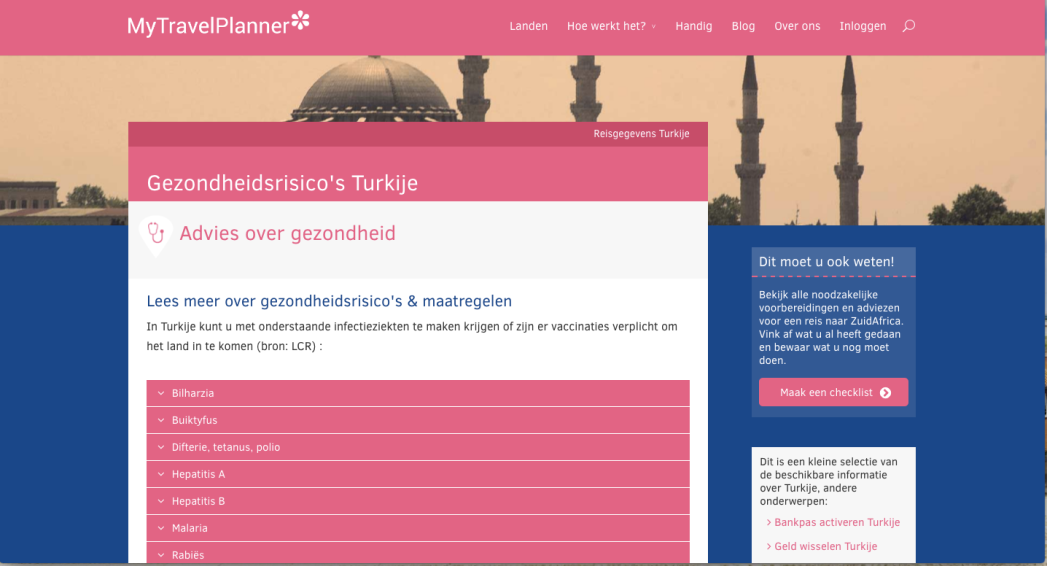 My Travel Planner, Turkije