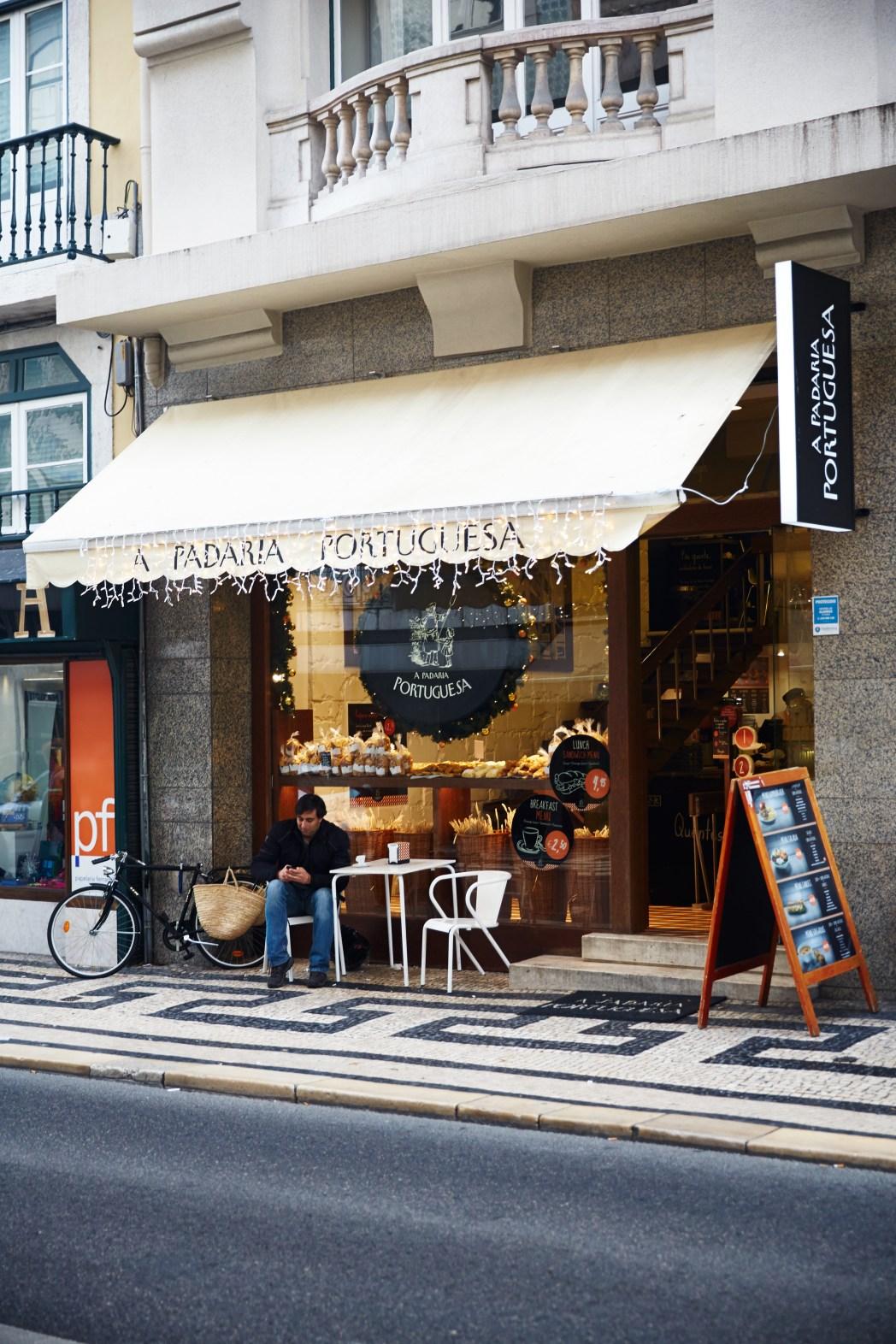 A Padaria Portuguesa op Rua Aurea in Baixa/Chiado