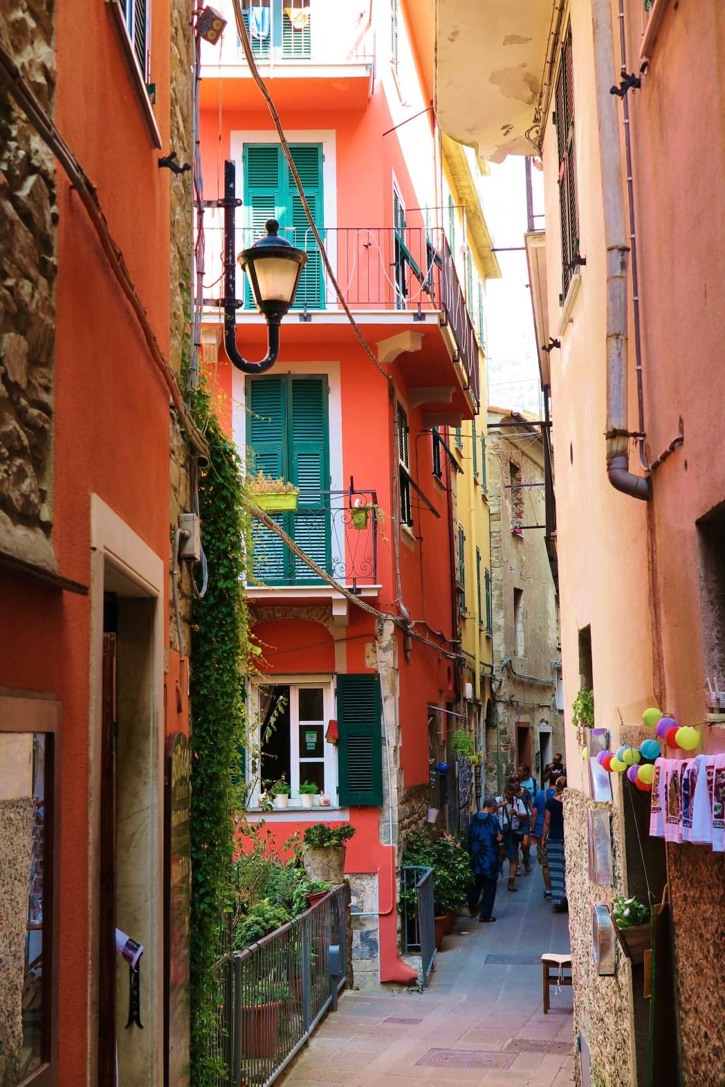 Smalle straatjes in Corniglia