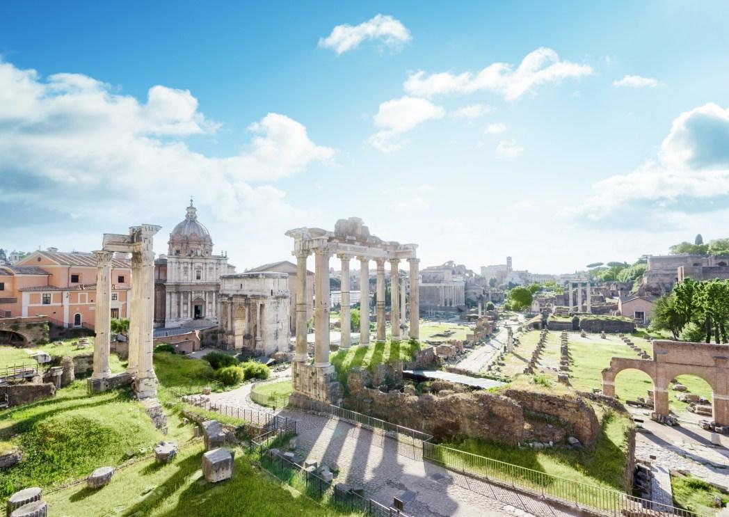 Zicht op het Forum, Rome