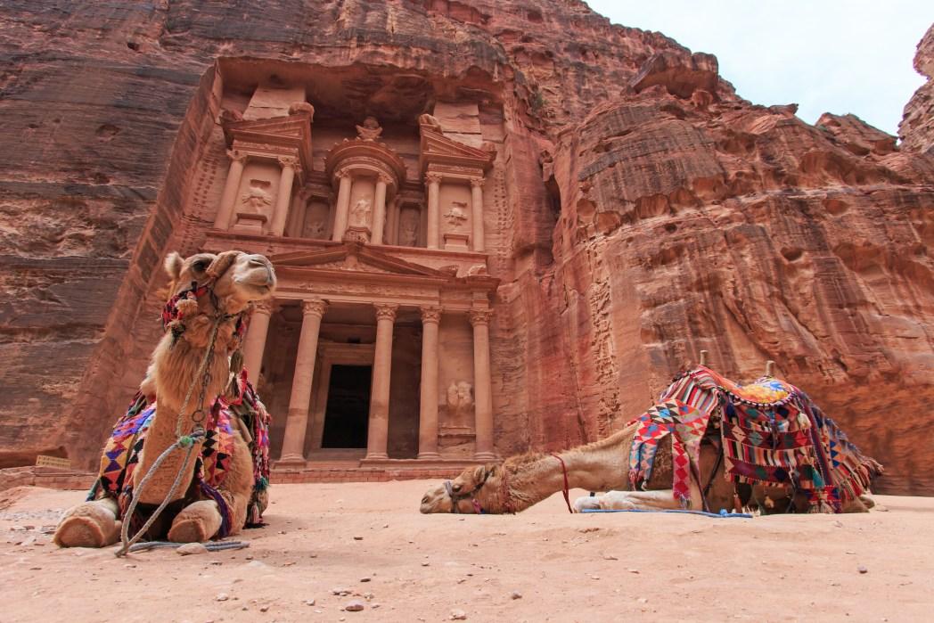 De historische stad Petra in Jordanië