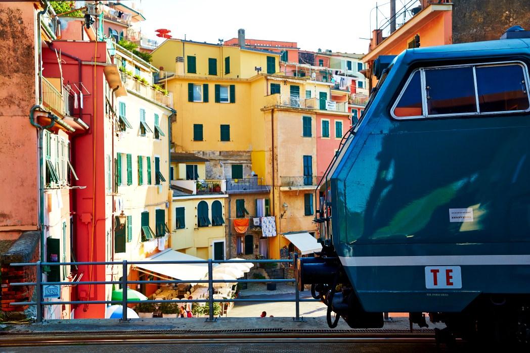 Station in Vernazza, trein, Cinque Terre