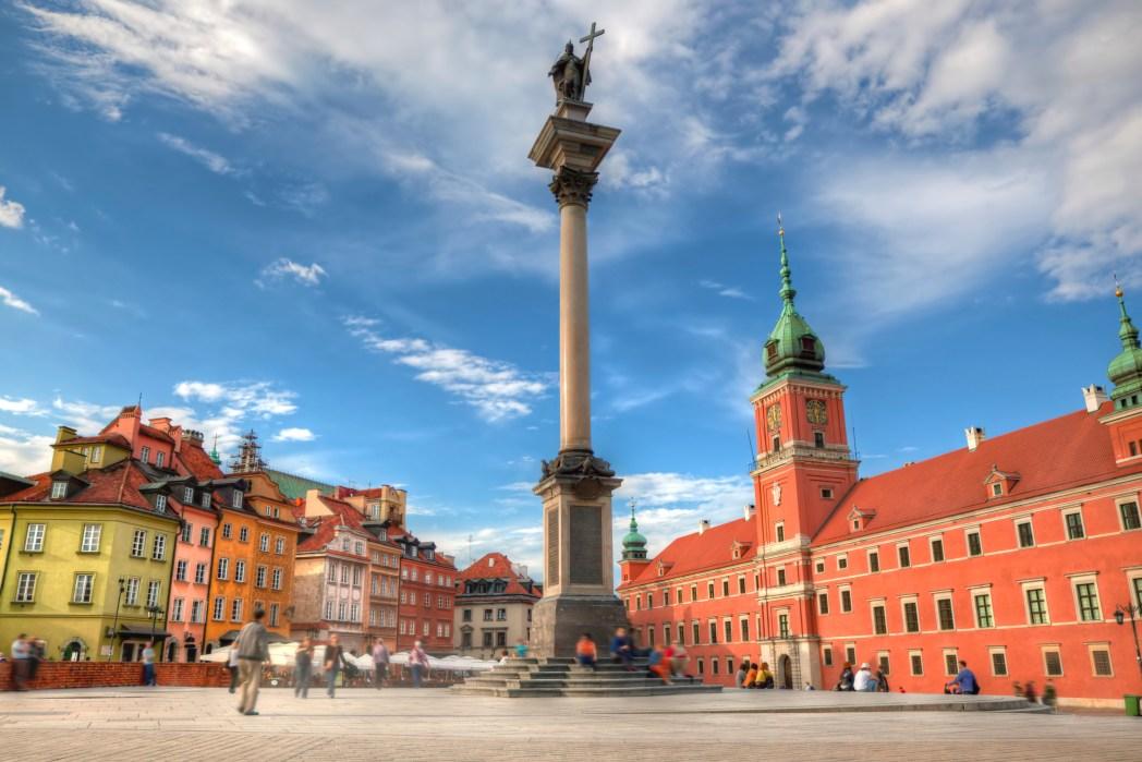 Warschau plein oude stad